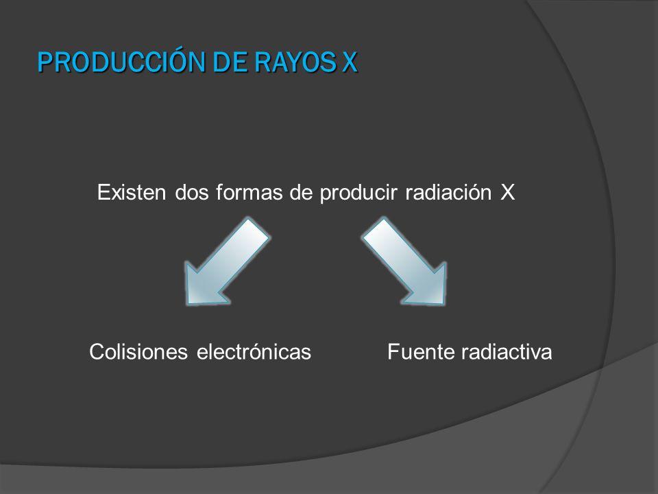 Existen dos formas de producir radiación X