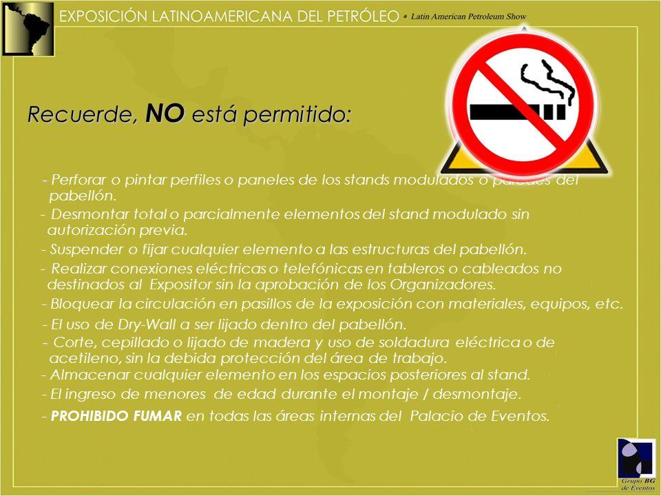 Recuerde, NO está permitido: