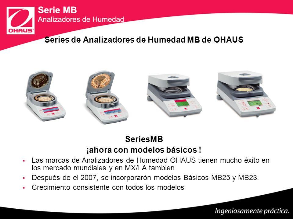 Series de Analizadores de Humedad MB de OHAUS