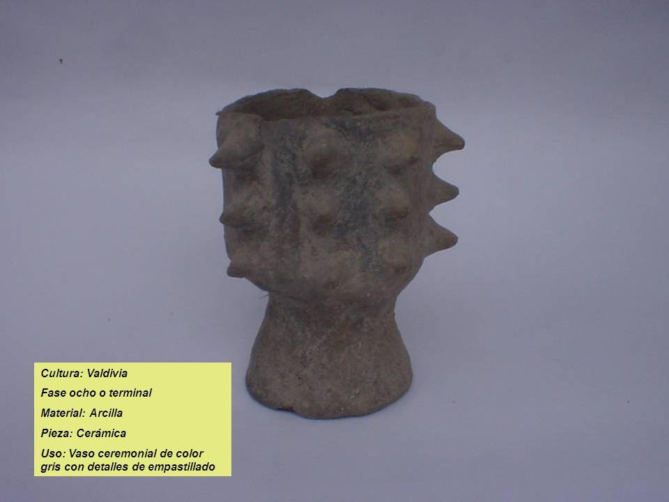 Cultura: Valdivia Fase ocho o terminal. Material: Arcilla.