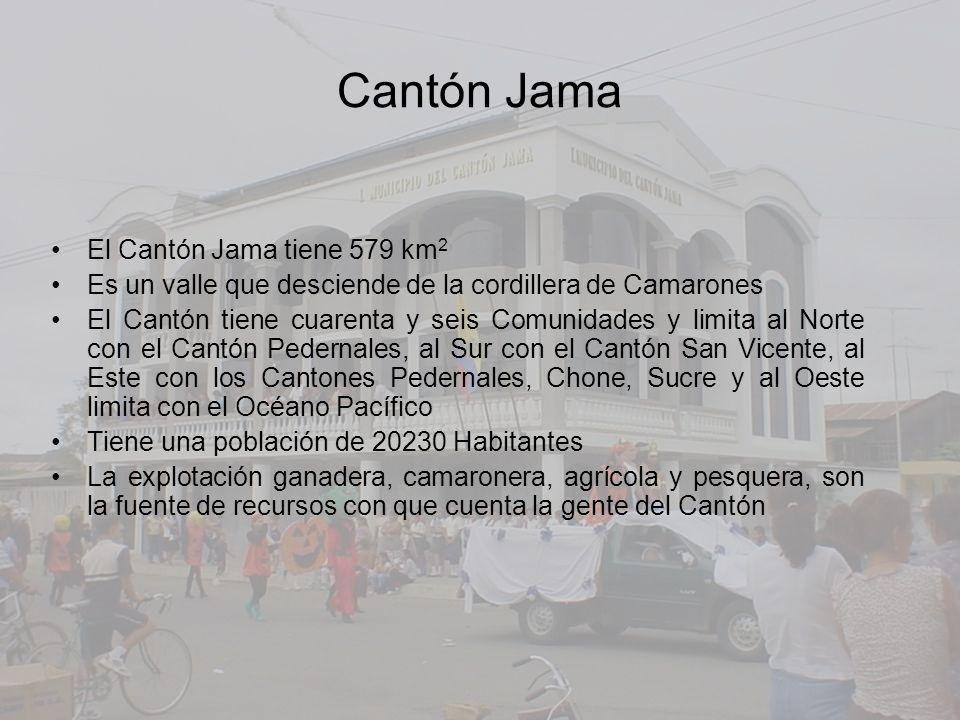 Cantón Jama El Cantón Jama tiene 579 km2