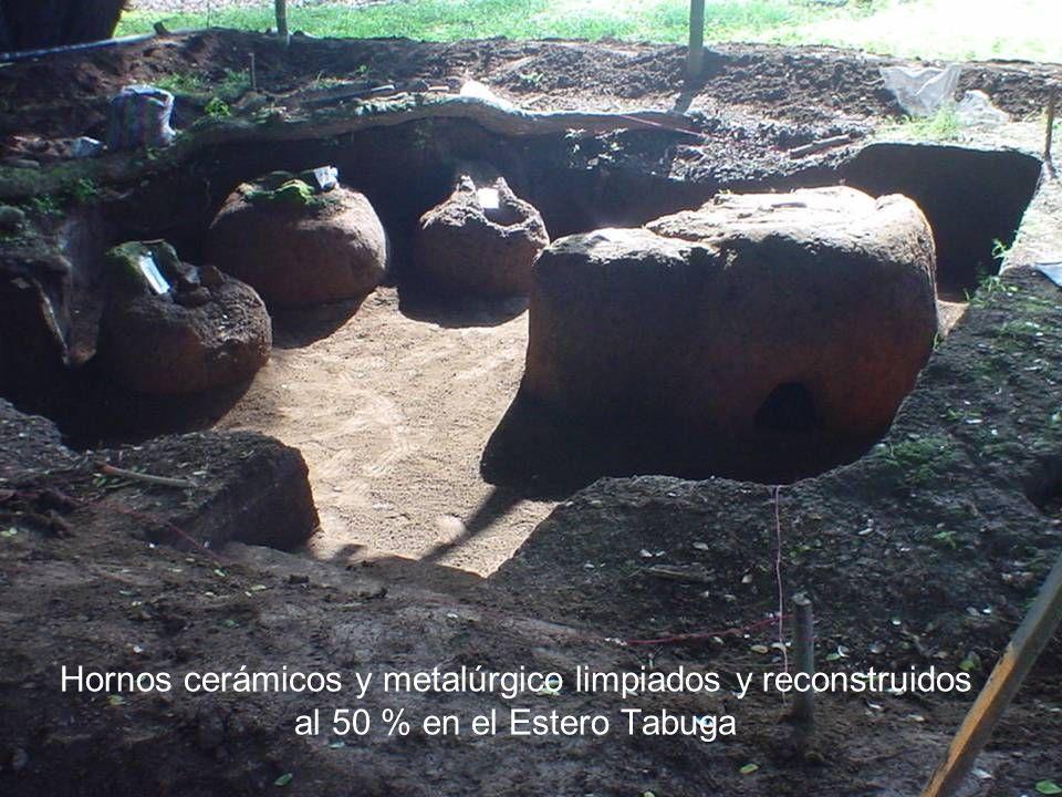 Hornos cerámicos y metalúrgico limpiados y reconstruidos al 50 % en el Estero Tabuga