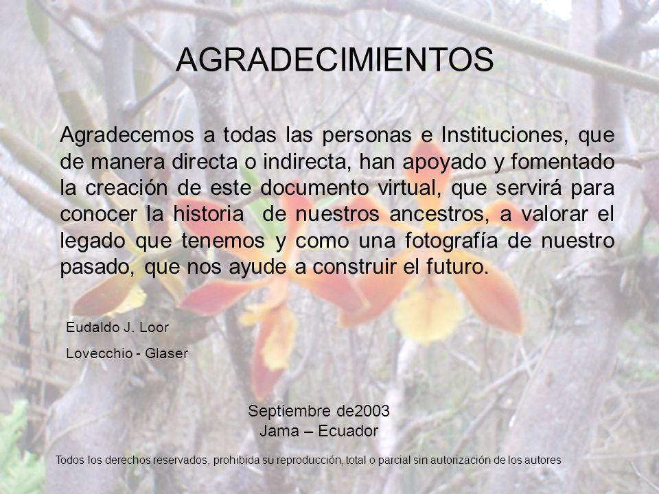 Septiembre de2003 Jama – Ecuador