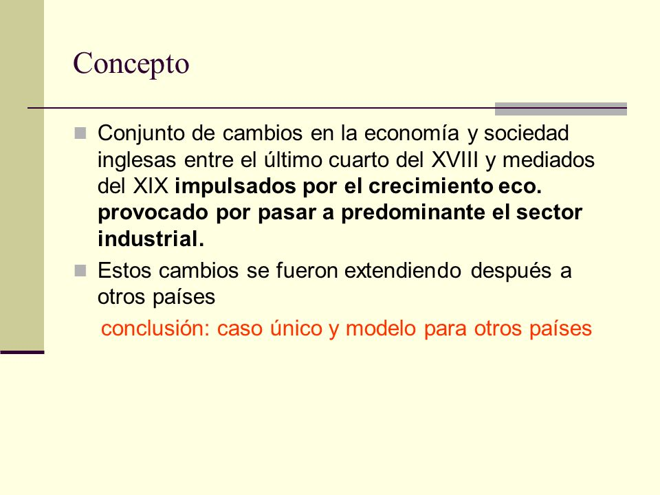 conclusión: caso único y modelo para otros países