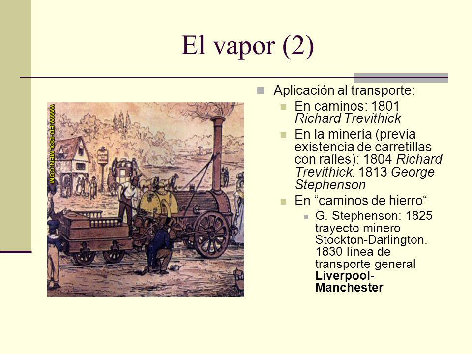 El vapor (2) Aplicación al transporte: