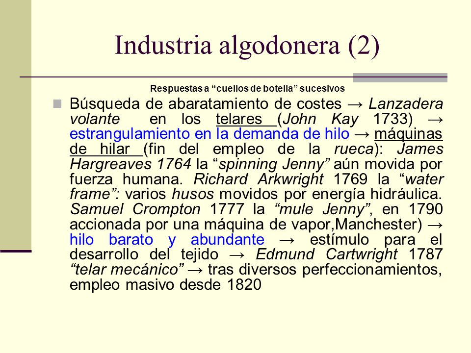 Industria algodonera (2)