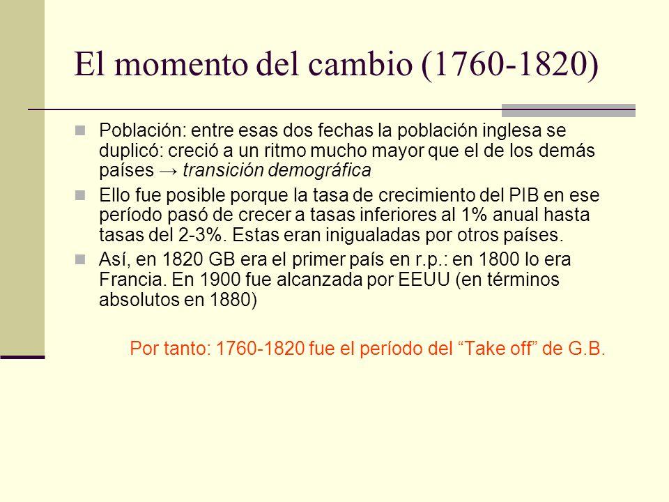 El momento del cambio (1760-1820)