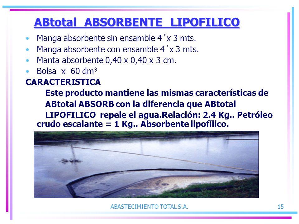 ABtotal ABSORBENTE LIPOFILICO