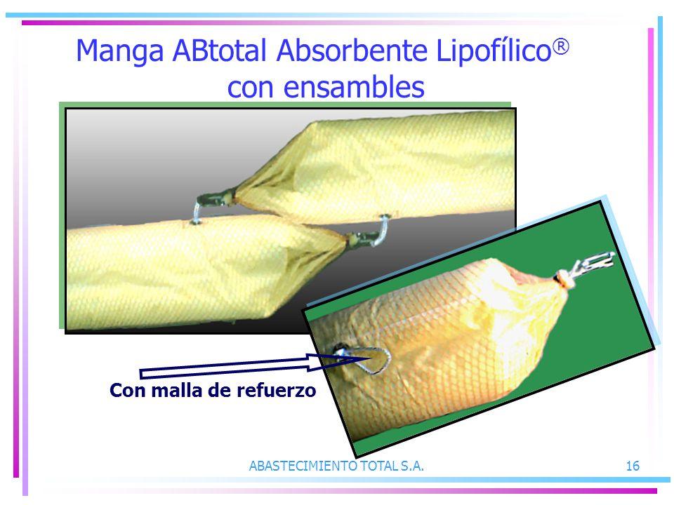 Manga ABtotal Absorbente Lipofílico® con ensambles