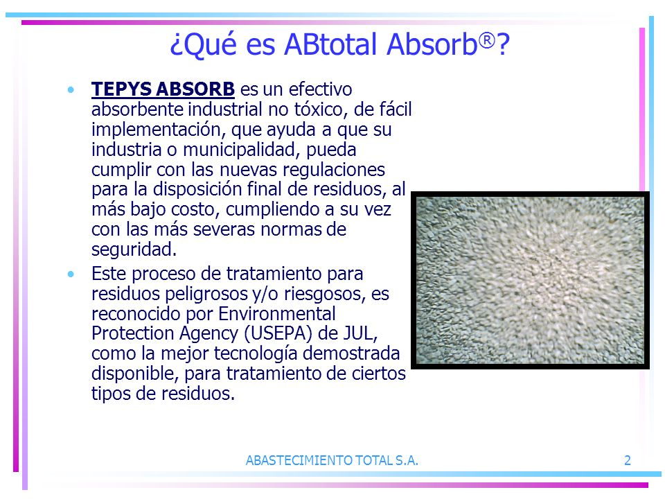 ¿Qué es ABtotal Absorb®