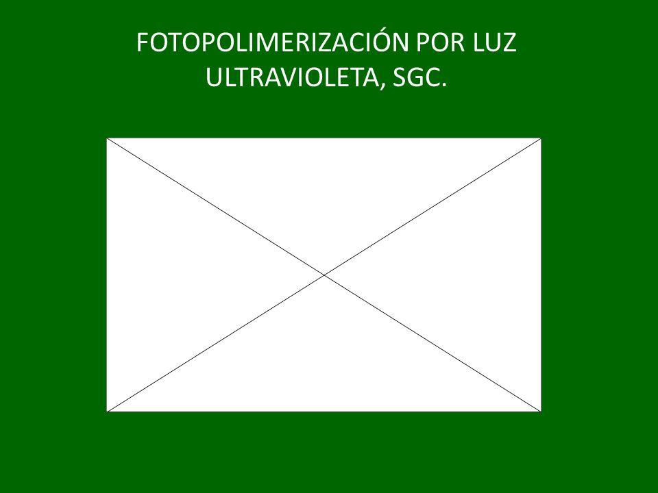 FOTOPOLIMERIZACIÓN POR LUZ ULTRAVIOLETA, SGC.