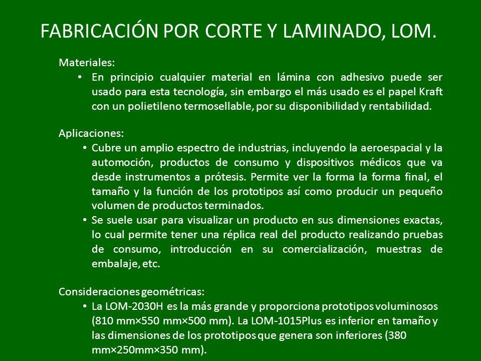 FABRICACIÓN POR CORTE Y LAMINADO, LOM.