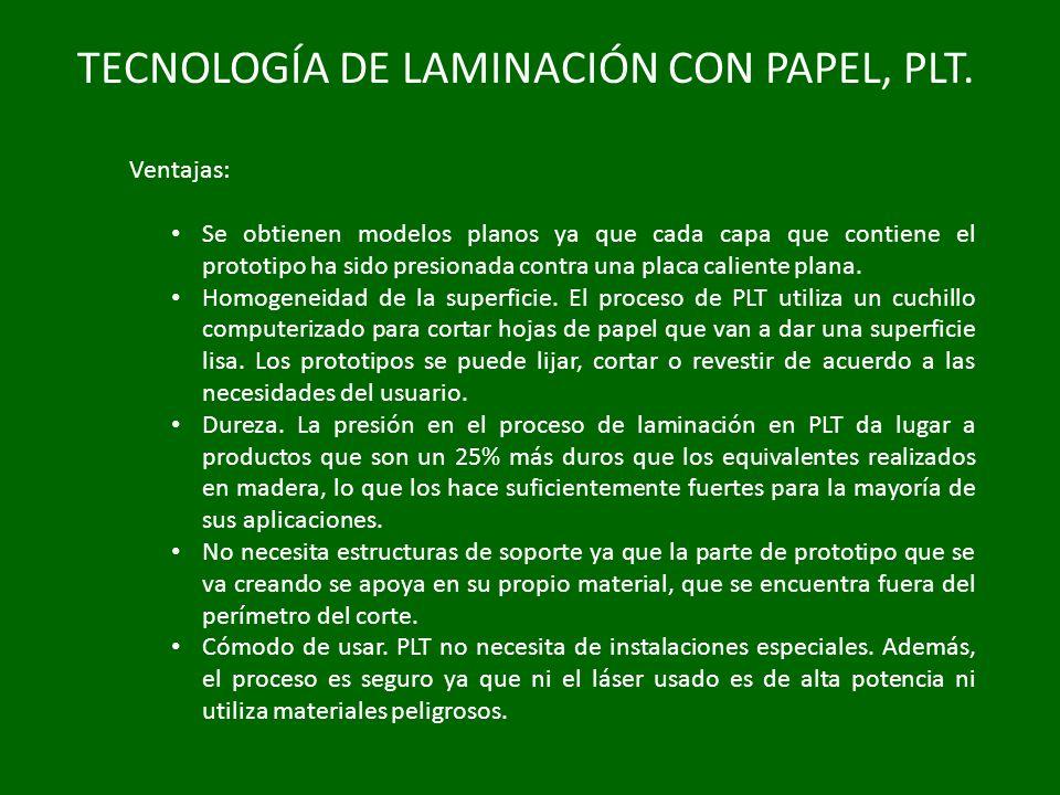 TECNOLOGÍA DE LAMINACIÓN CON PAPEL, PLT.