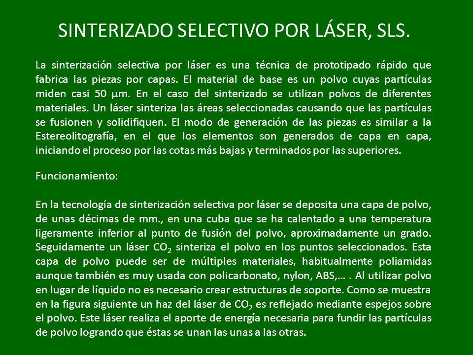 SINTERIZADO SELECTIVO POR LÁSER, SLS.
