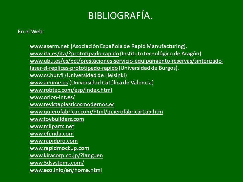 BIBLIOGRAFÍA. En el Web: