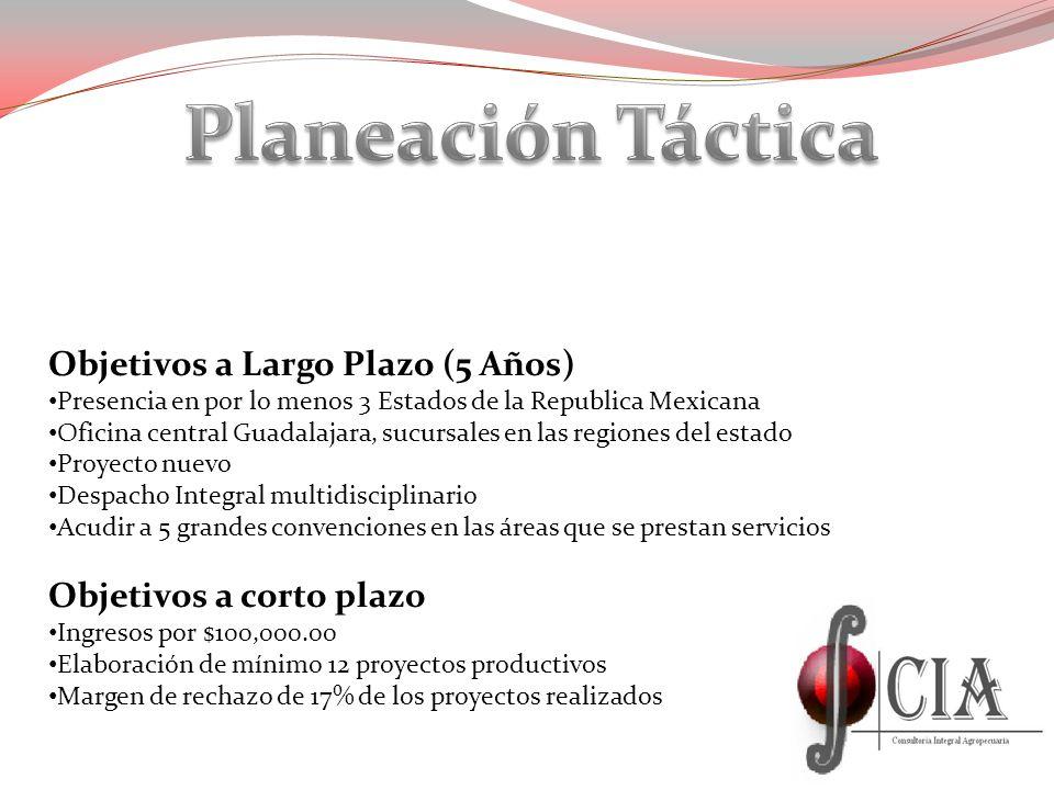 Planeación Táctica Objetivos a Largo Plazo (5 Años)