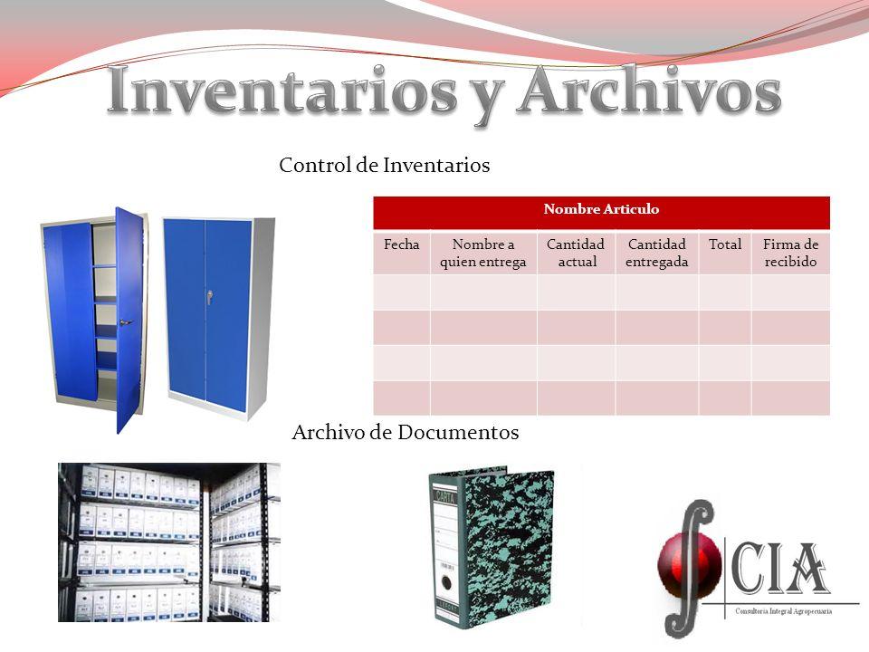 Inventarios y Archivos
