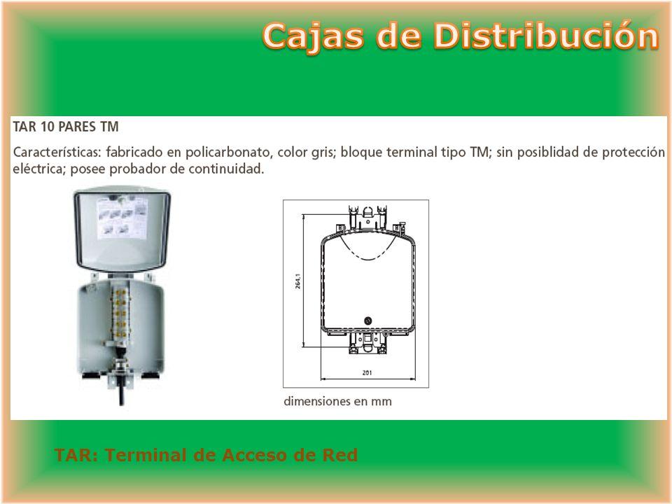 Cajas de Distribución TAR: Terminal de Acceso de Red