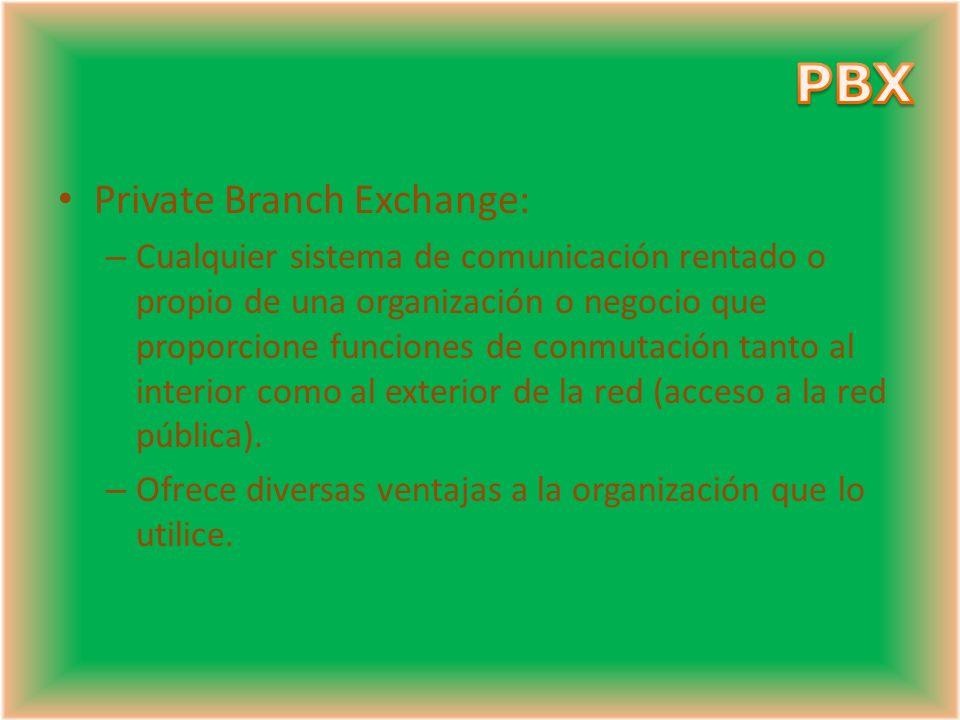 PBX Private Branch Exchange: