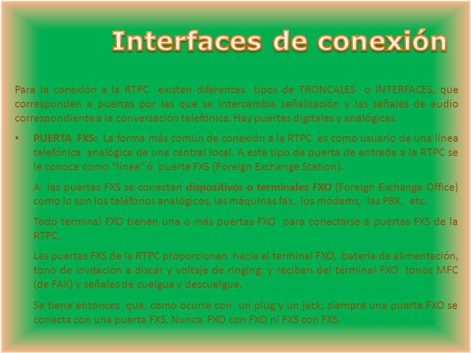 Interfaces de conexión