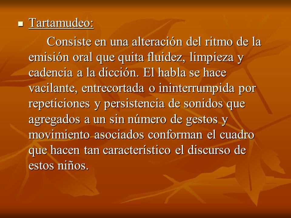 Tartamudeo: