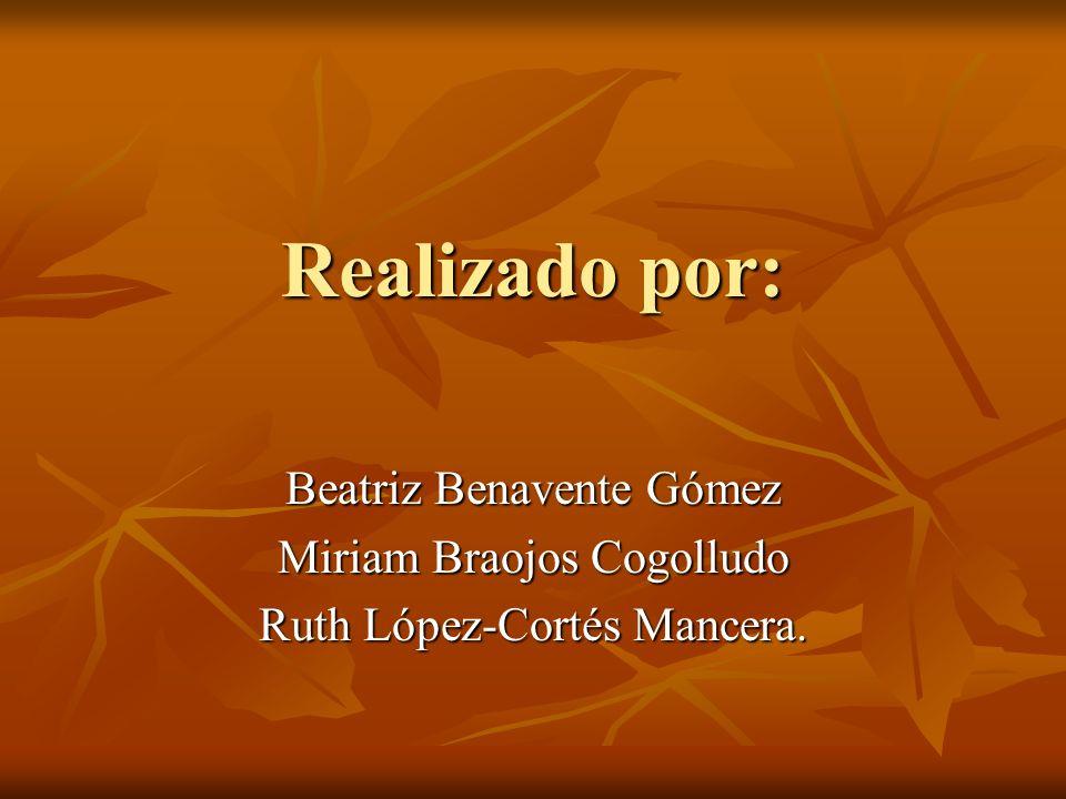 Realizado por: Beatriz Benavente Gómez Miriam Braojos Cogolludo