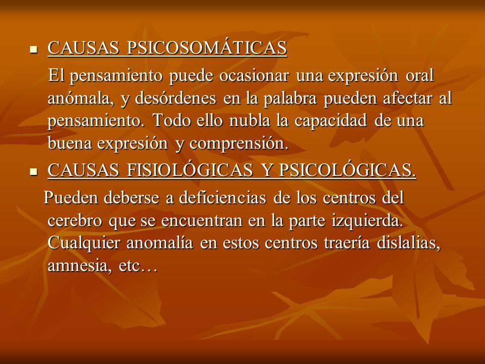 CAUSAS PSICOSOMÁTICAS
