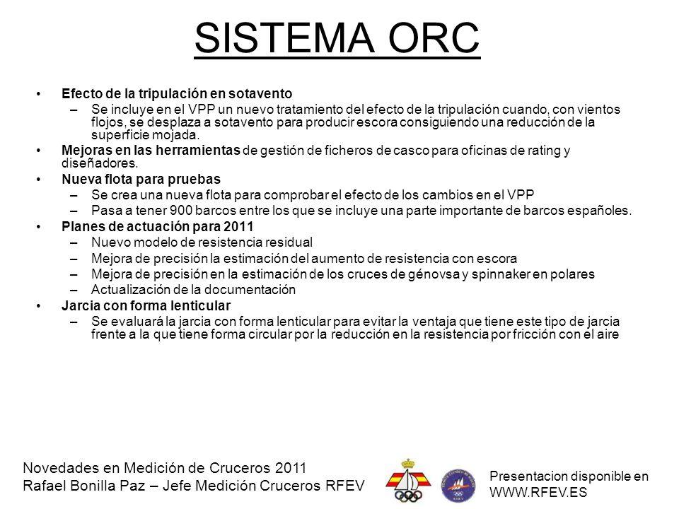 SISTEMA ORC Novedades en Medición de Cruceros 2011