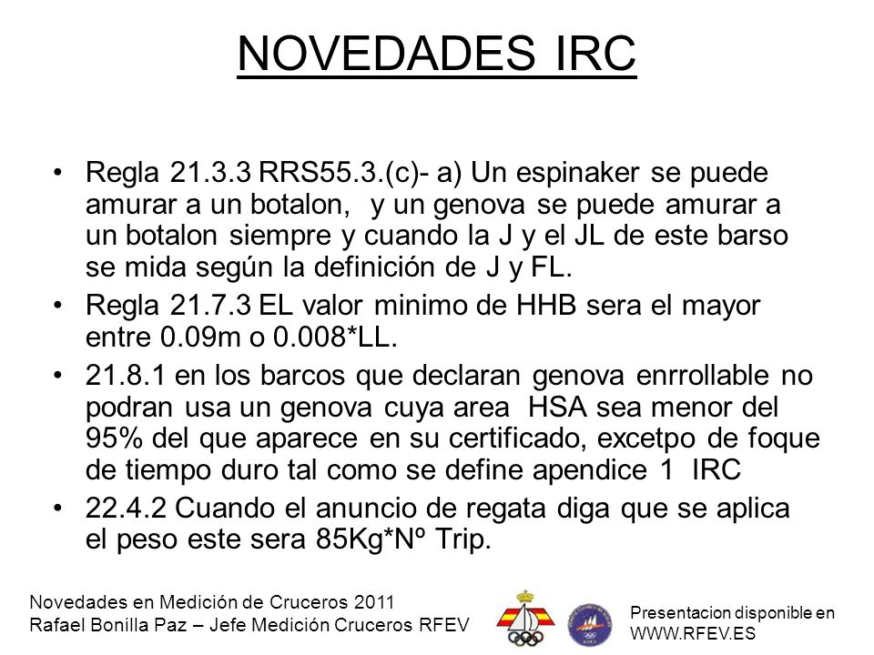 NOVEDADES IRC