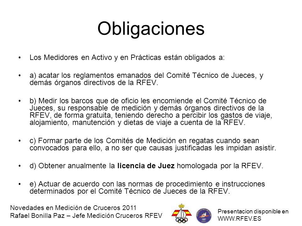 Obligaciones Los Medidores en Activo y en Prácticas están obligados a: