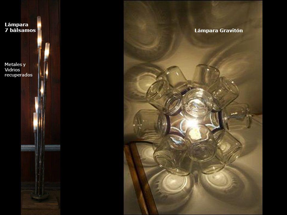 Lámpara 7 bálsamos Metales y Vidrios recuperados Lámpara Gravitón