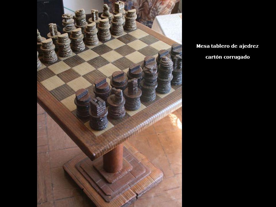 Mesa tablero de ajedrez