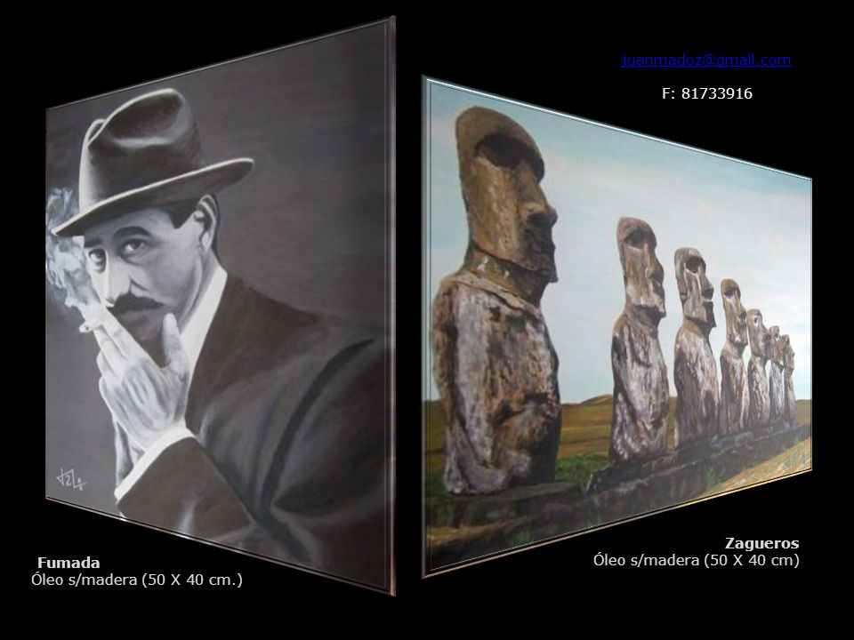 juanmadoz@gmail.com F: 81733916. Zagueros. Óleo s/madera (50 X 40 cm) Fumada.