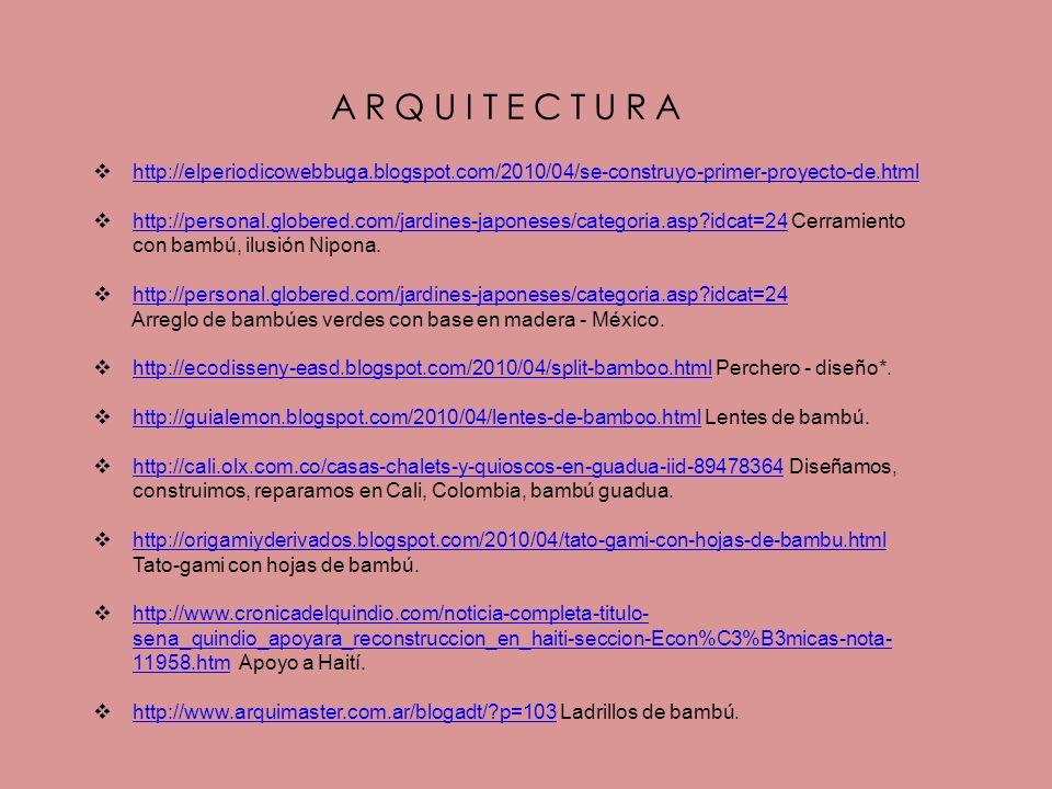 ARQUITECTURA http://elperiodicowebbuga.blogspot.com/2010/04/se-construyo-primer-proyecto-de.html.