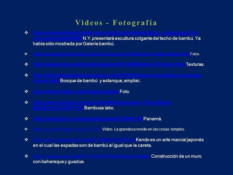 Videos - Fotografía