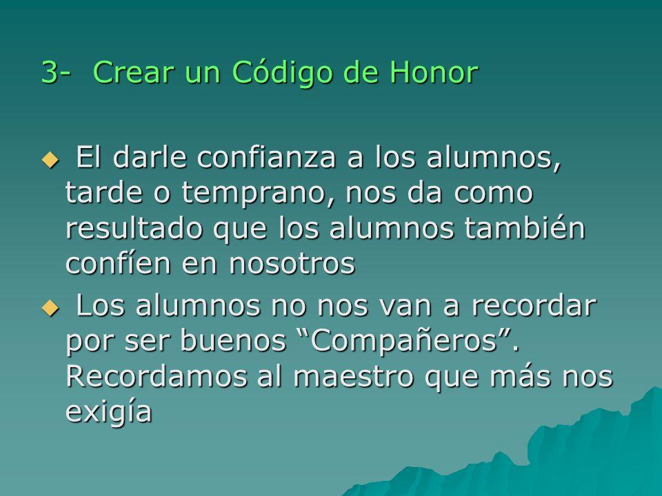 3- Crear un Código de Honor