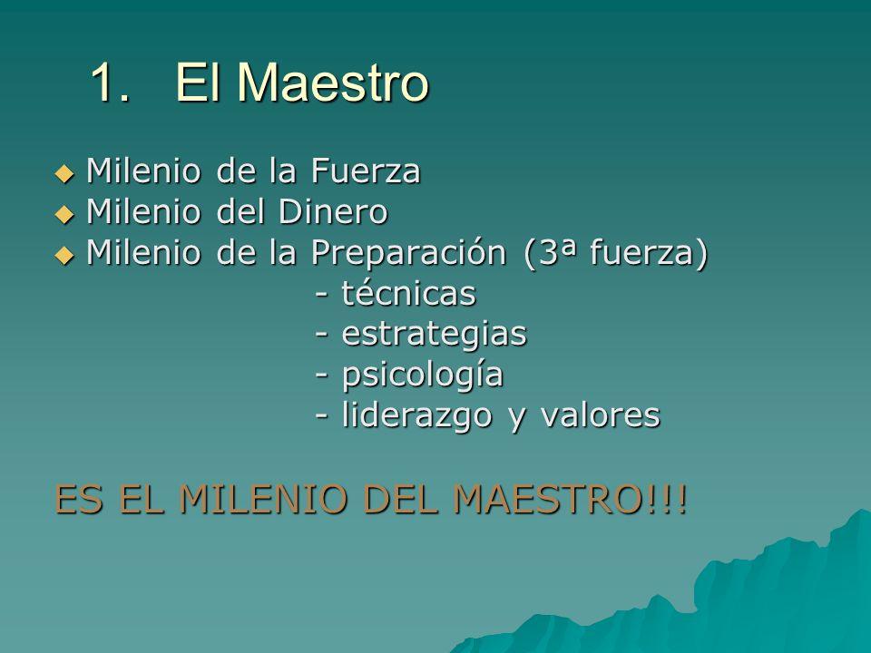 1. El Maestro ES EL MILENIO DEL MAESTRO!!! Milenio de la Fuerza