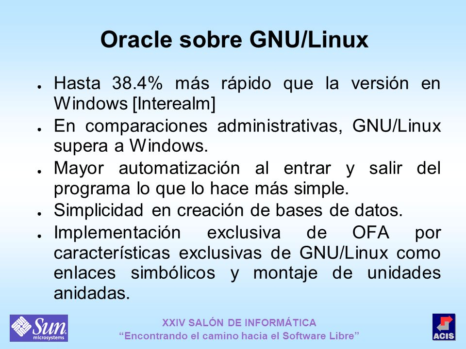 Oracle sobre GNU/Linux