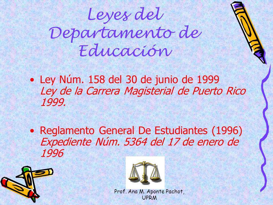 Leyes del Departamento de Educación