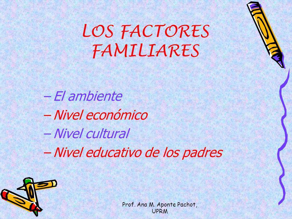LOS FACTORES FAMILIARES