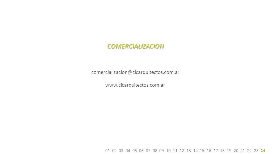 COMERCIALIZACION 15 60 95 21 30 comercializacion@clcarquitectos.com.ar