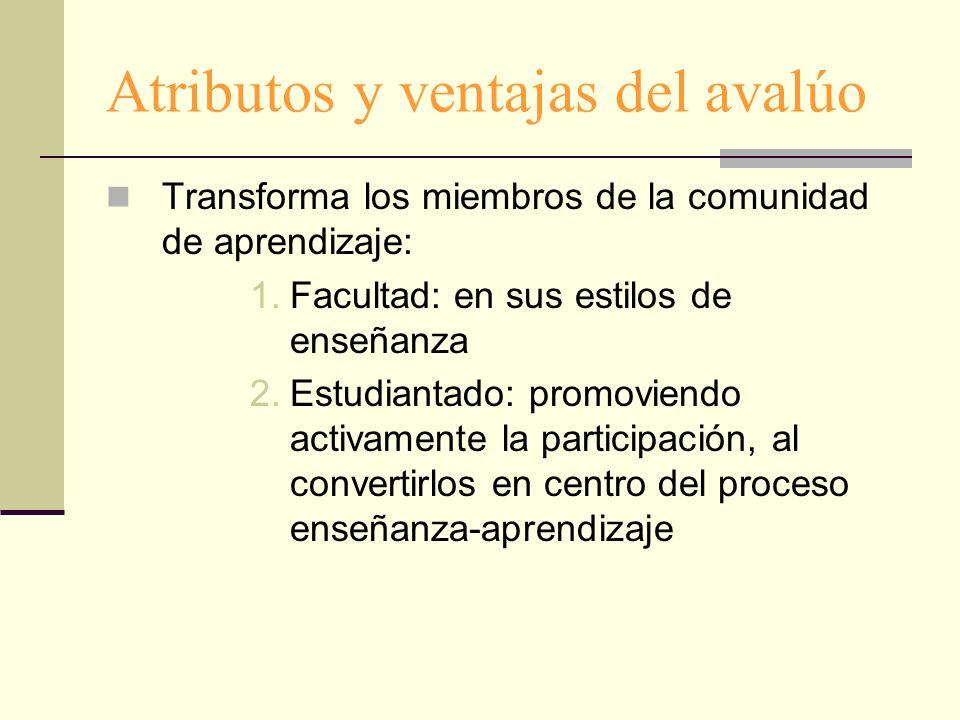 Atributos y ventajas del avalúo