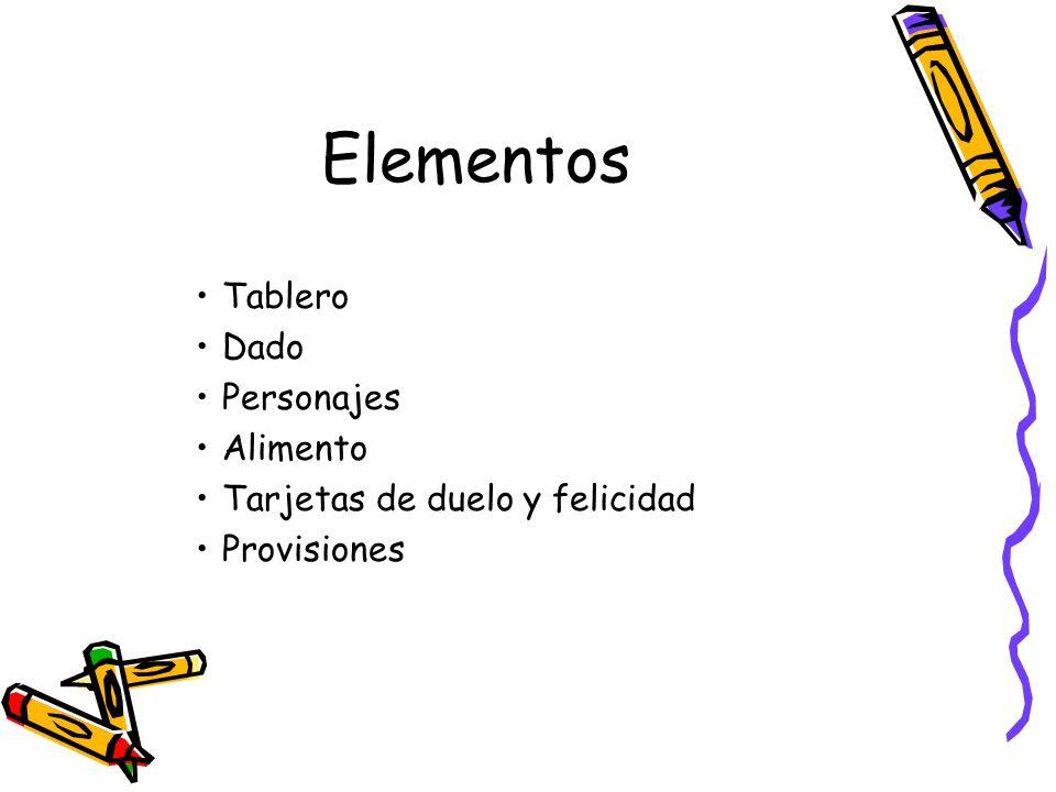 Elementos Tablero Dado Personajes Alimento