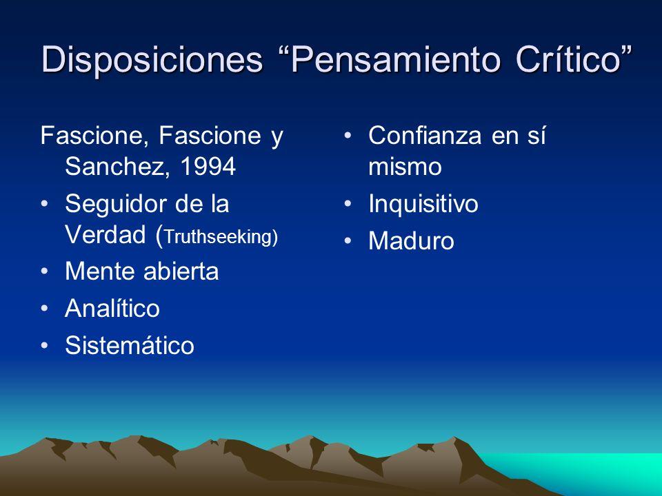 Disposiciones Pensamiento Crítico