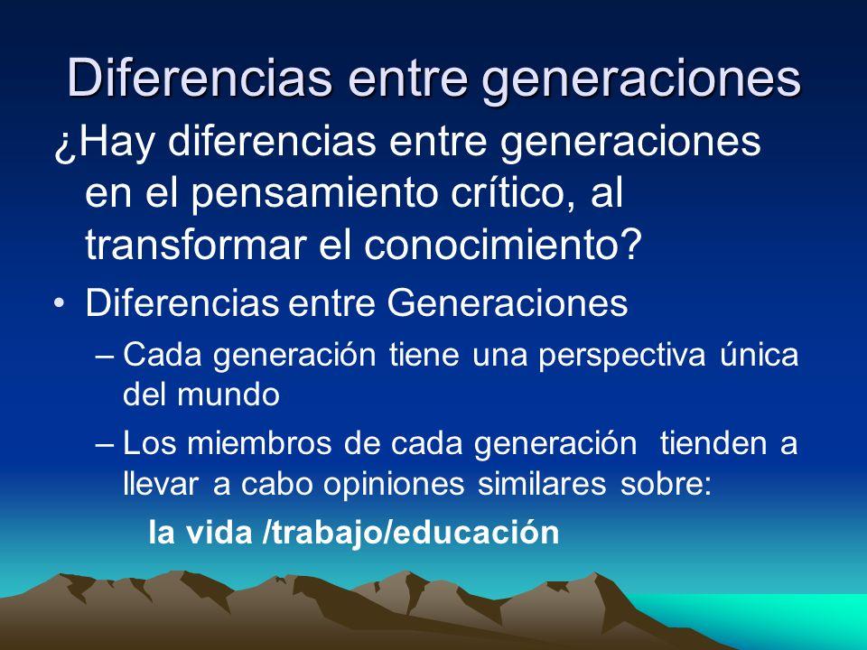 Diferencias entre generaciones