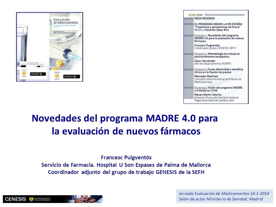Novedades del programa MADRE 4.0 para la evaluación de nuevos fármacos