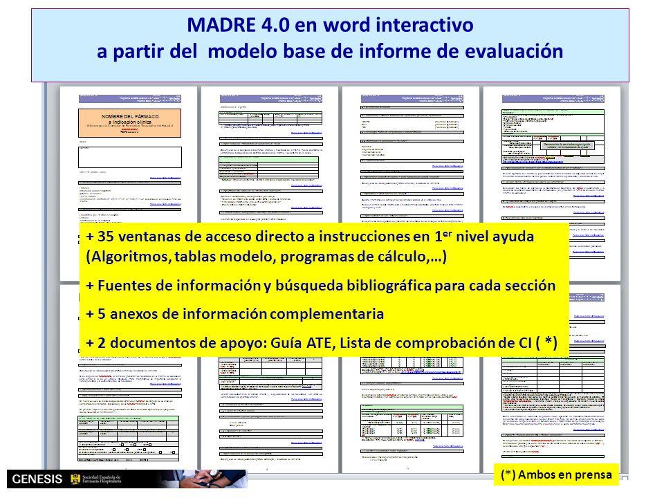 MADRE 4.0 Modelo de informe de evaluación