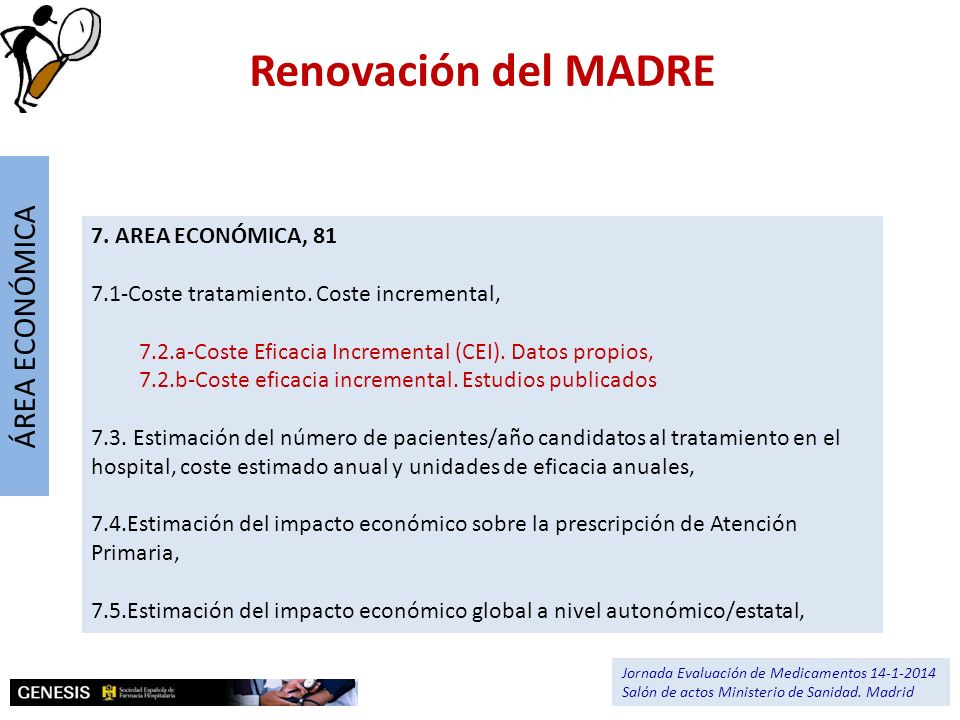 Renovación del MADRE ÁREA ECONÓMICA 7. AREA ECONÓMICA, 81