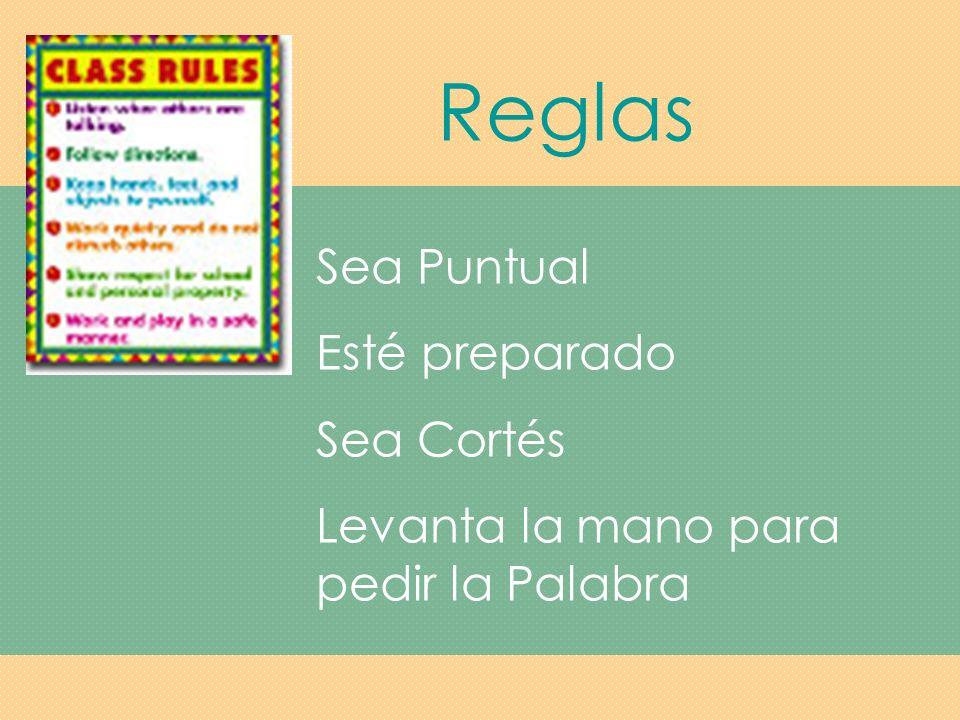 Reglas Sea Puntual Esté preparado Sea Cortés