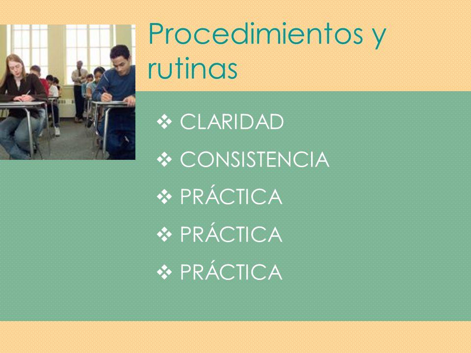Procedimientos y rutinas